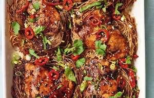 Nadiya Hussain Teriyaki Chicken Noodles Recipe | BBC2 Nadiya Bakes