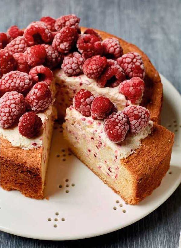 nadiya hussain raspberry ice cream cake easy baking recipe
