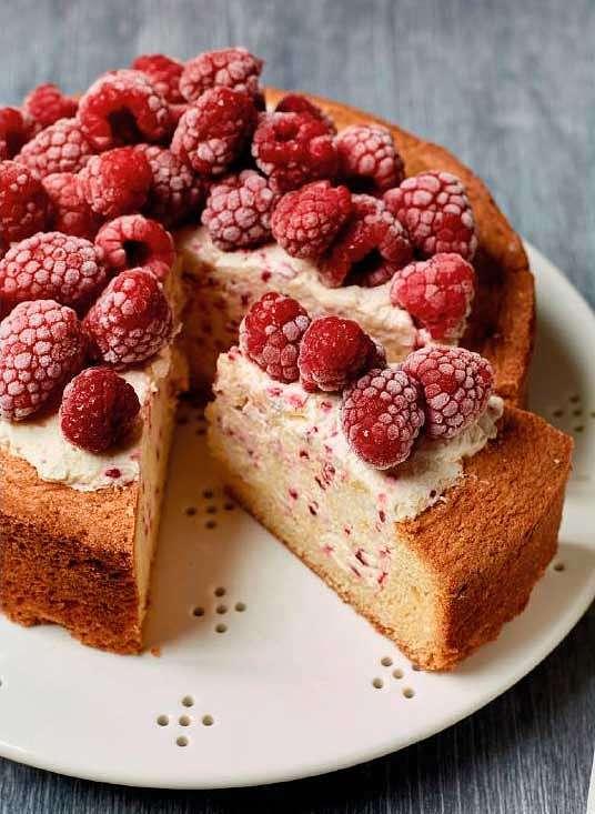 Nadiya Hussain's Raspberry Ice Cream Cake