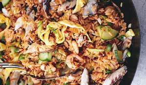 Nasi Goreng with Mackerel