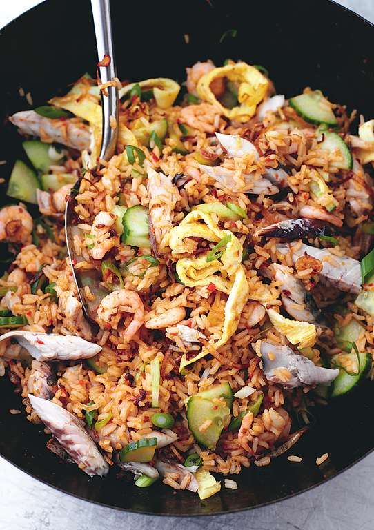 Nasi Goreng with Mackerel