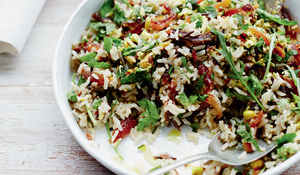 Lemon-Infused Wild Rice with Parsley, Dried Apricots and Pistachios