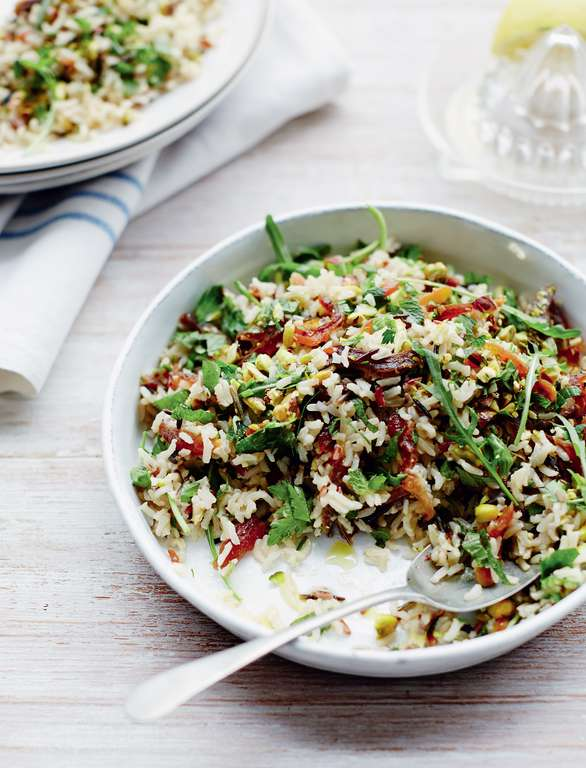 Lemon-Infused Wild Rice with Parsley, Dried Apricots and Pistachios ...
