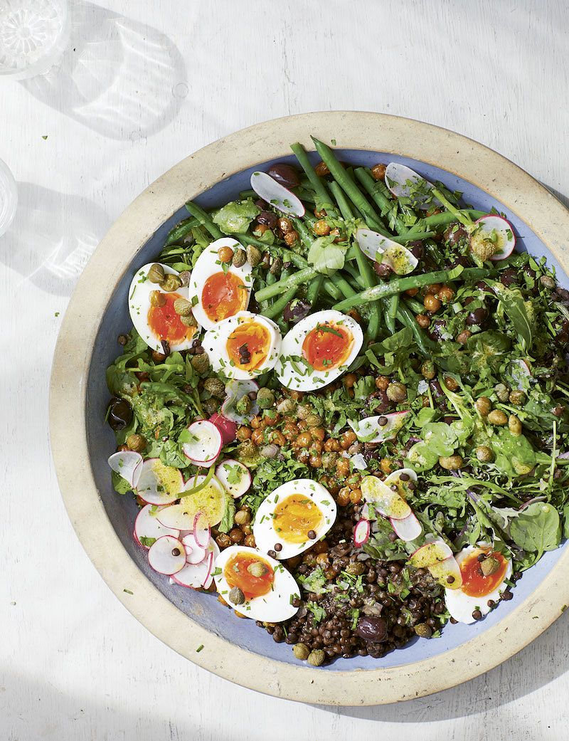 eat the seasons summer nicoise salad with fried chickpeas eat green melissa hemsley