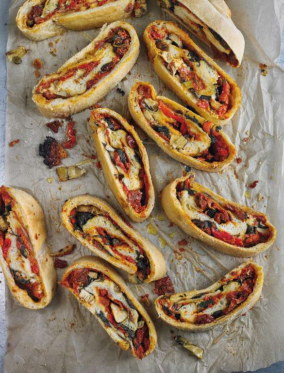 Roasted Veg and Taleggio Stromboli