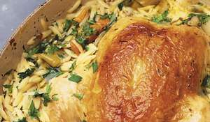 Nigella Lawson's Chicken in a Pot with Lemon and Orzo | Cook, Eat, Repeat
