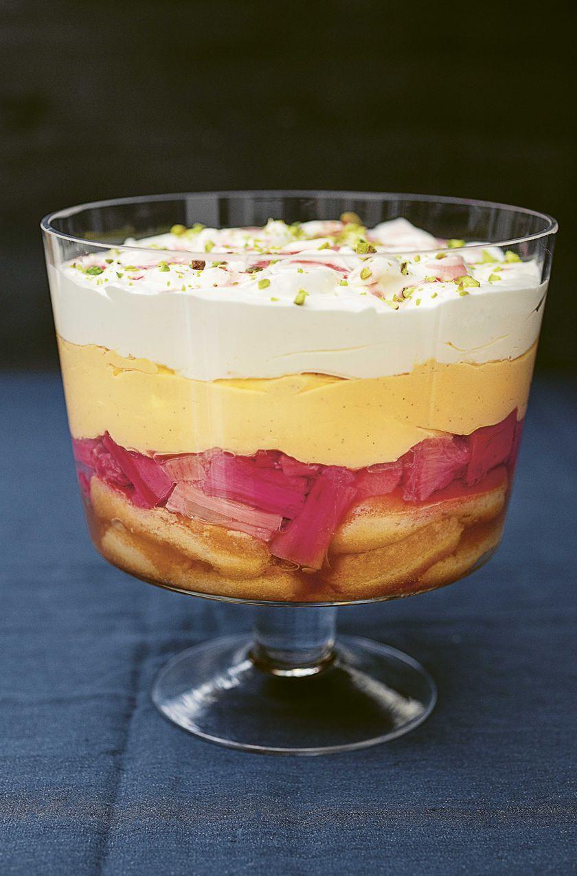 Forced Rhubarb and Custard Trifle Nigella Lawson