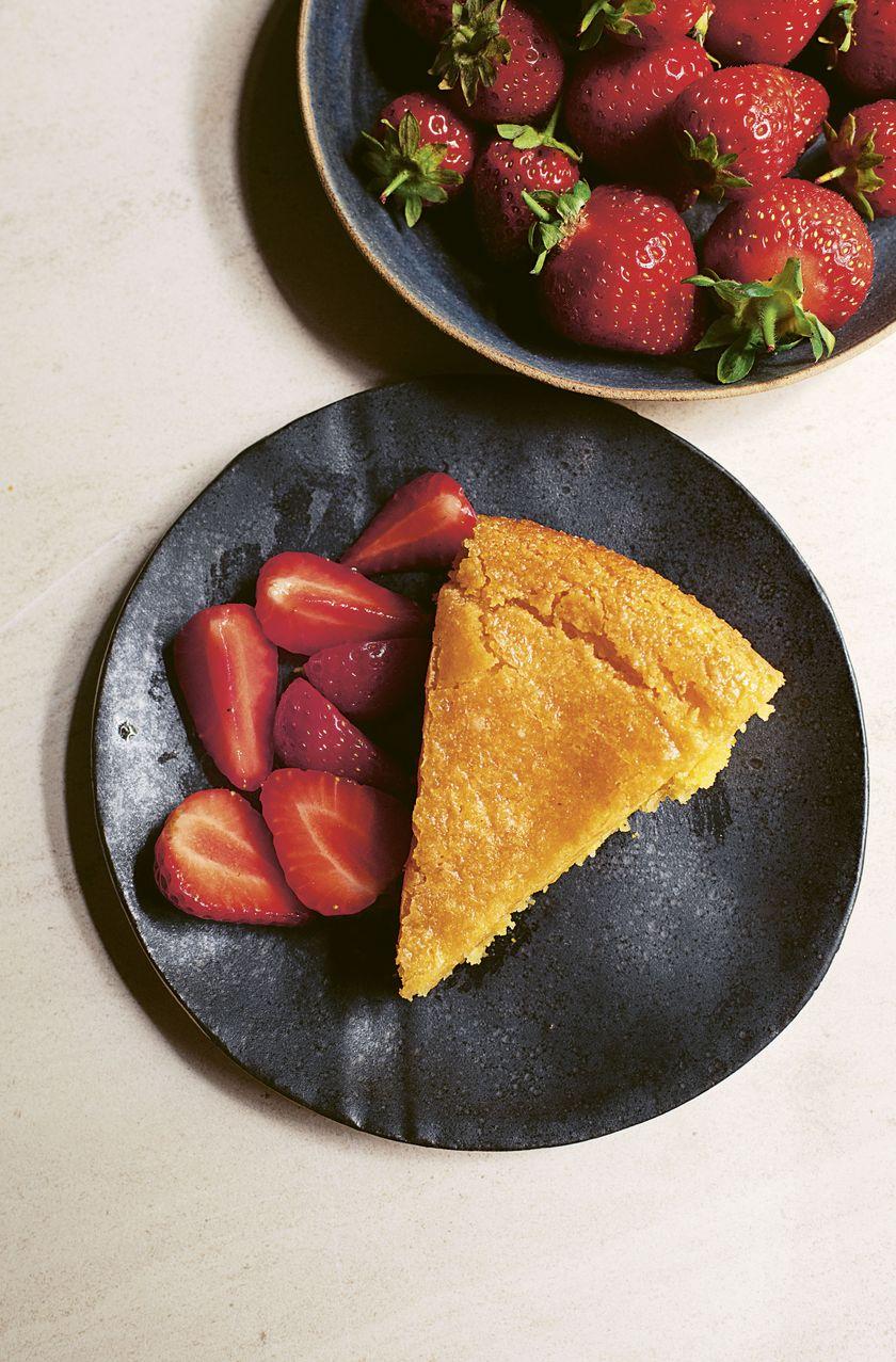 Nigella Lawson Vegan Bakes Lemon and Polenta Cake