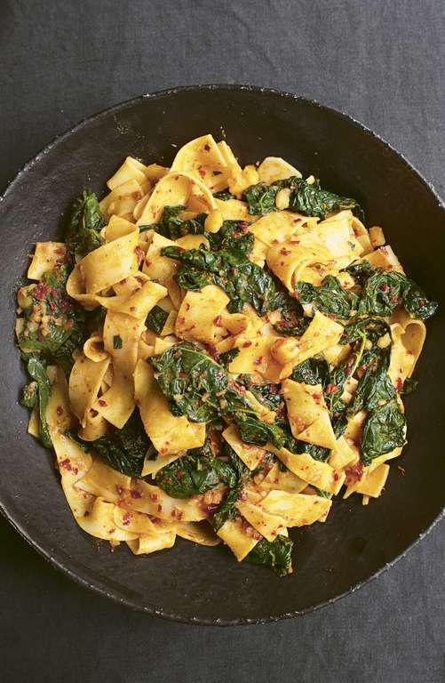 Nigella Lawson's Pappardelle with Cavolo Nero and 'Nduja