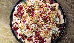 Nigella Lawson's Beef and Aubergine Fatteh Recipe