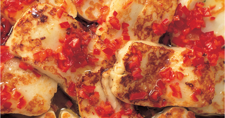 Halloumi with Chilli - The Happy Foodie