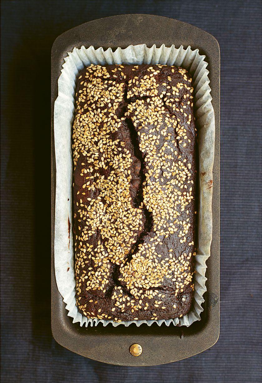 Nigella Lawson Vegan Bakes Chocolate, Tahini, Banana Loaf
