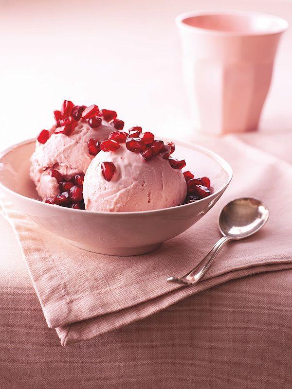 best pomegranate recipes no churn pomegranate ice cream nigella express