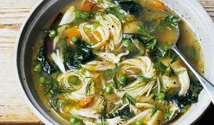 Melissa Hemsley's Rescue Noodle Soup with Leftover Chicken | Healthy Soup