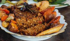 Festive vegetarian Christmas nut roast recipe from Mary McCartney's At My Table