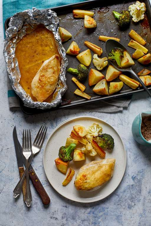 Eat Well For Less One-pan Roasted Chicken Dinner