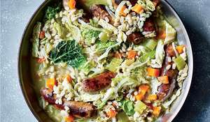 Sausage and Pearl Barley Stew