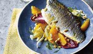 One-pan Sea Bass with Baby Fennel and Orange Salad Recipe