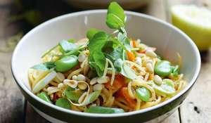 One-pot Summer Vegetable Spaghetti | Vegan Recipes