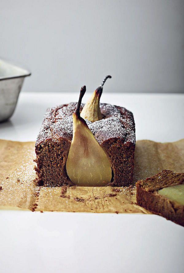 easy vegan bakes Boozy Caribbean Pear Cake fromOne Pot Vegan by Roxy Pope & Ben Pook