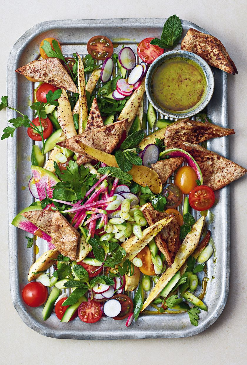 Vegan Snack Recipes Parsnip Fattoush