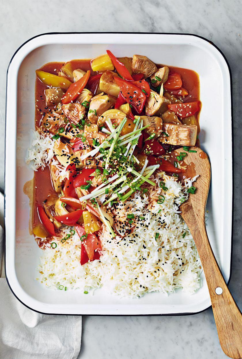Vegan Comfort Food Recipe Sweet and Sour Jackfruit