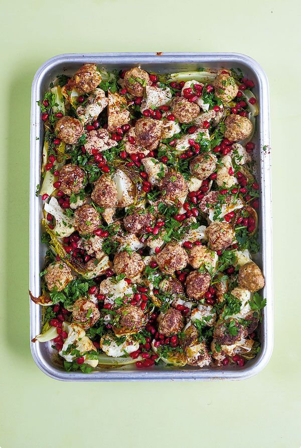 best pomegranate recipes lamb meatballs with pomegranate the quick roasting tin