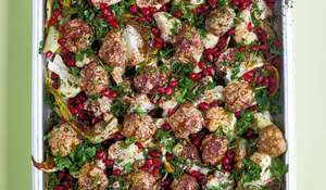 Middle Eastern Lamb Meatballs | Easy Traybake Recipe