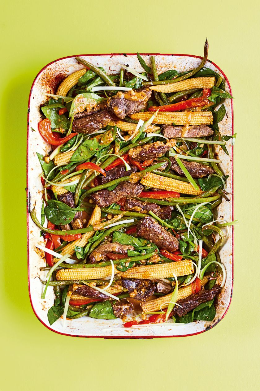 10 Quick & Healthy One Tray Oven Recipes from The Quick Roasting Tin - chilli peanut beef