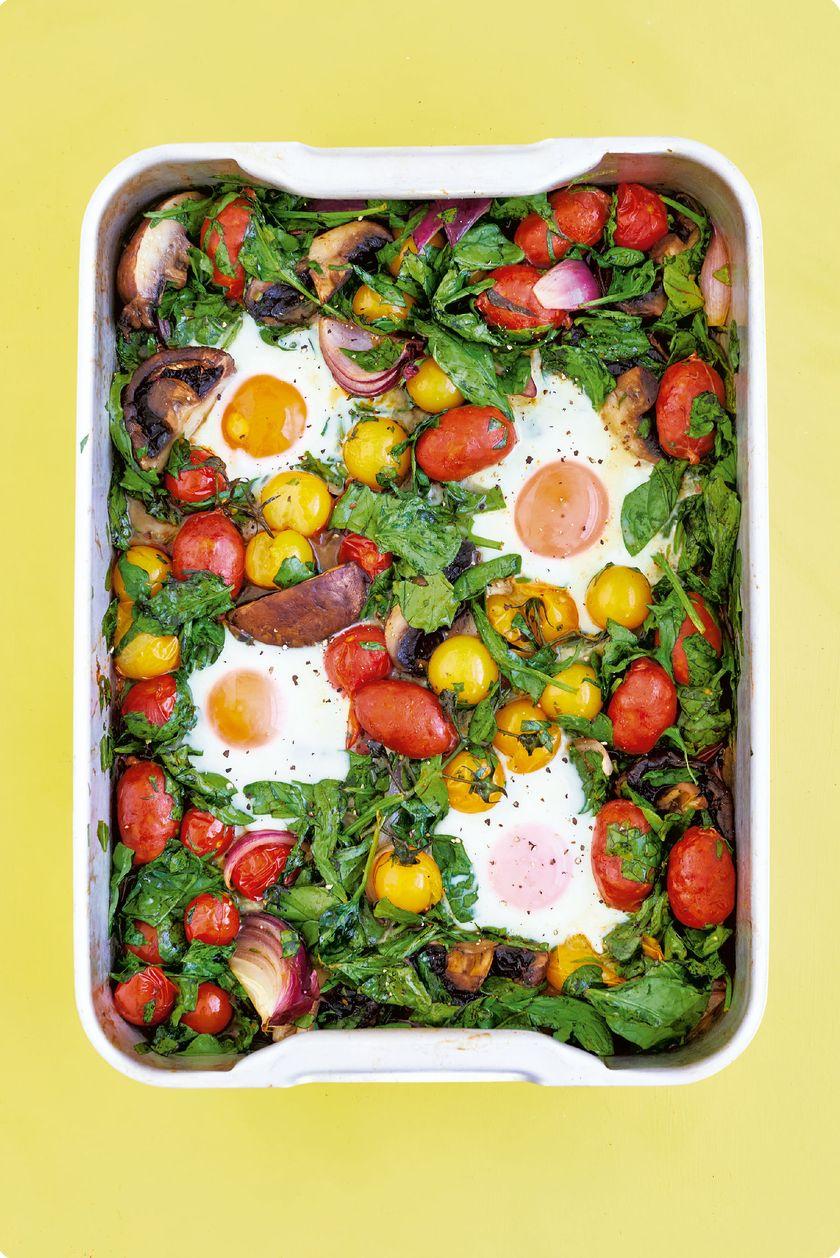 10 Quick & Healthy One Tray Oven Recipes from The Quick Roasting Tin - breakfast traybake