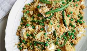 Asparagus, Potato, Pea and Quinoa Salad