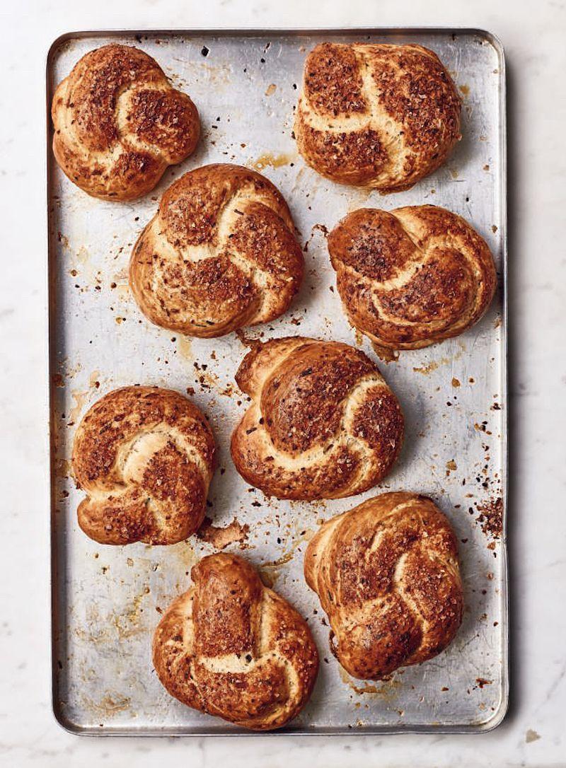 onion pretzels nadiya hussain best savoury bakes nadiya bakes