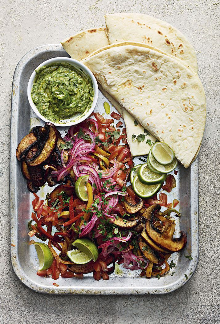 cheeky Chimichurri Fajitas one pot vegan so vegan