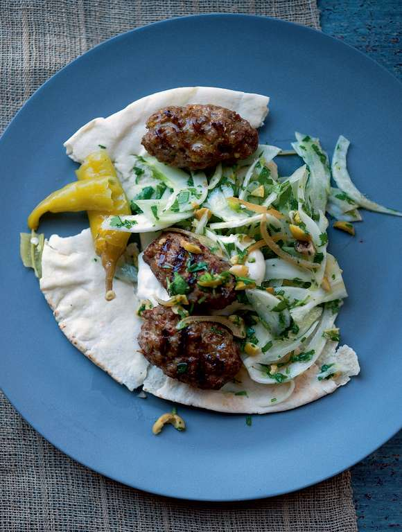 Spiced Pork and Cumin Sausages with Fennel and Preserved Lemon Salad