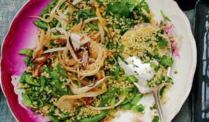 Swiss Chard Bulgur Pilaf with Caramelised Fennel and Za'atar