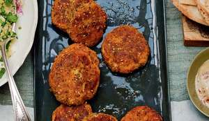 Za'atar-Crumbed Prawn and Sweet Potato Cakes