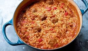 Meatballs with Orzo