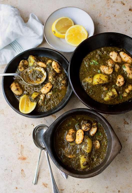 Yotam Ottolenghi's Bkeila, Potato, and Butter Bean Stew