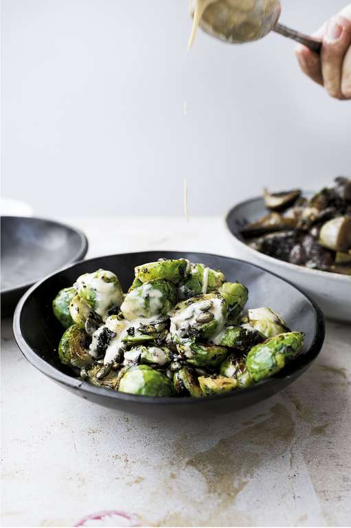 Ottolenghi's Brussels Sprouts with Burnt Butter and Black Garlic