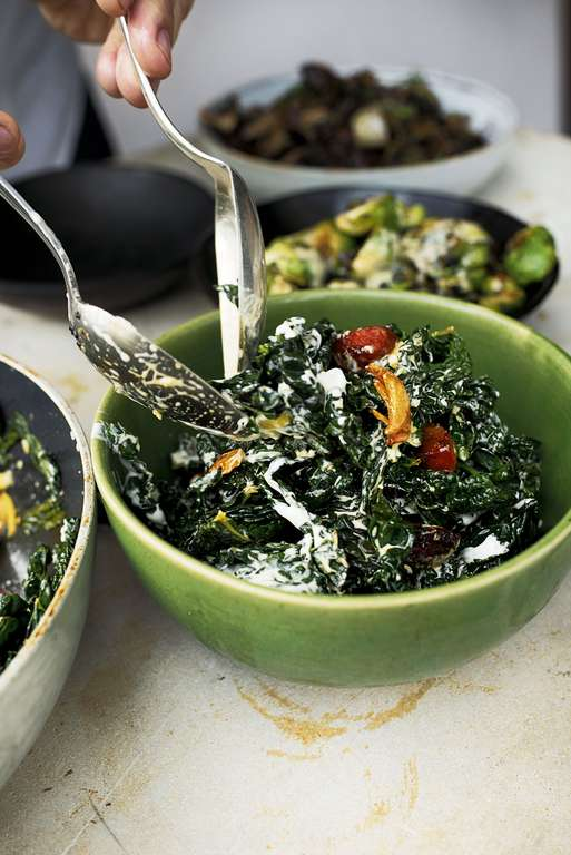 Ottolenghi's Cavolo Nero with Chorizo and Preserved Lemon