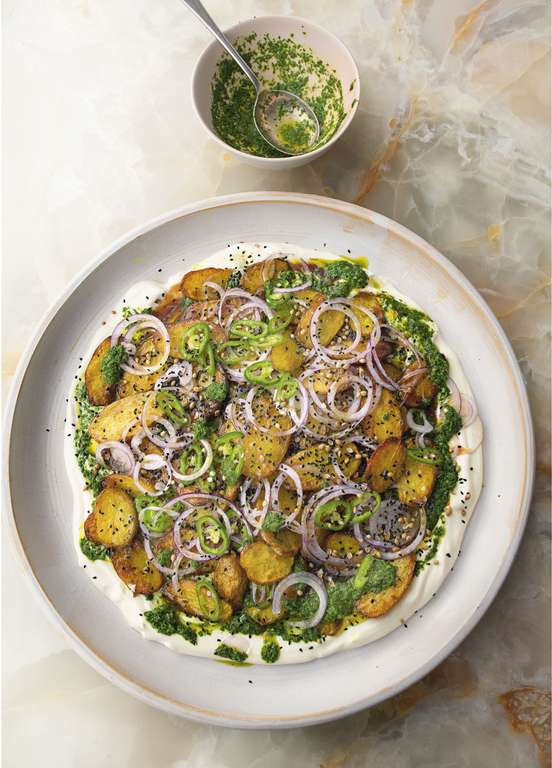 Yotam Ottolenghi's Chaat Masala Potatoes with Yoghurt and Tamarind