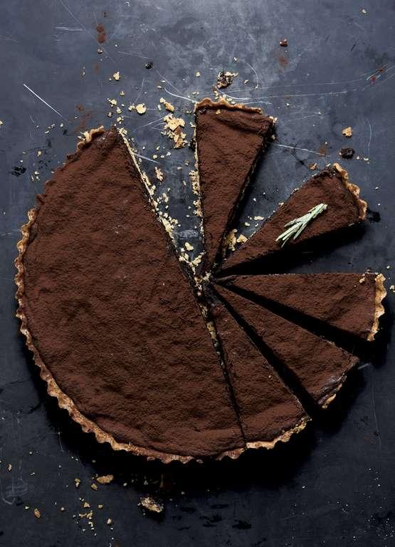 Ottolenghi's Chocolate Tart with Hazelnut, Rosemary and Orange
