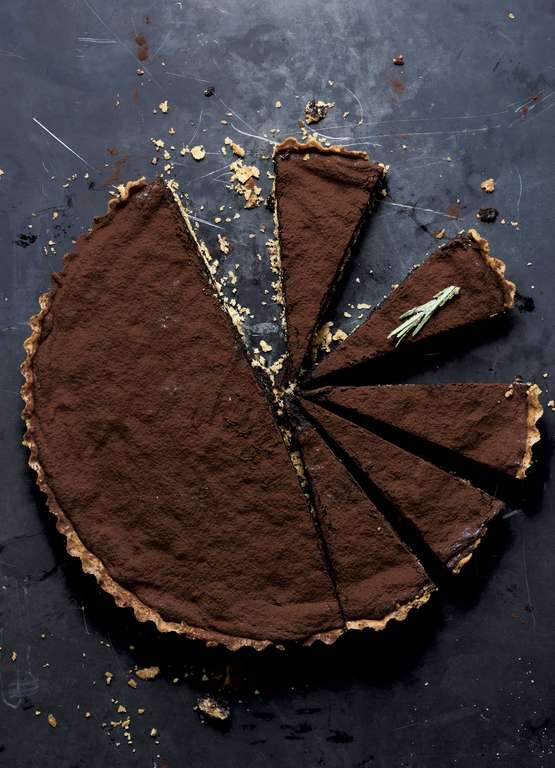Ottolenghi's Chocolate Tart with Hazelnut, Rosemary and Orange