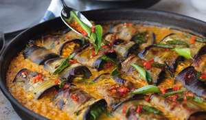 Ottolenghi Stuffed Aubergines in Curry & Coconut Dal | FLAVOUR 2020