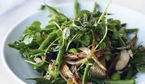 French Beans with Freekeh and Miso | Ottolenghi NOPI