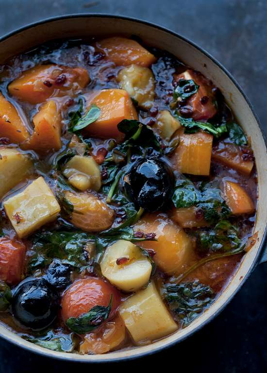 Yotam Ottolenghi's Iranian Vegetable Stew with Dried Limes