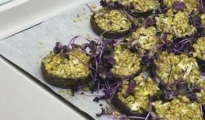 Ottolenghi Portobello Mushrooms with Pearl Barley and Preserved Lemon