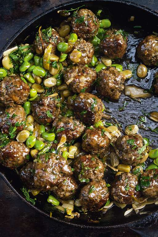Ottolenghi's Beef Meatballs with Broad Beans and Lemon