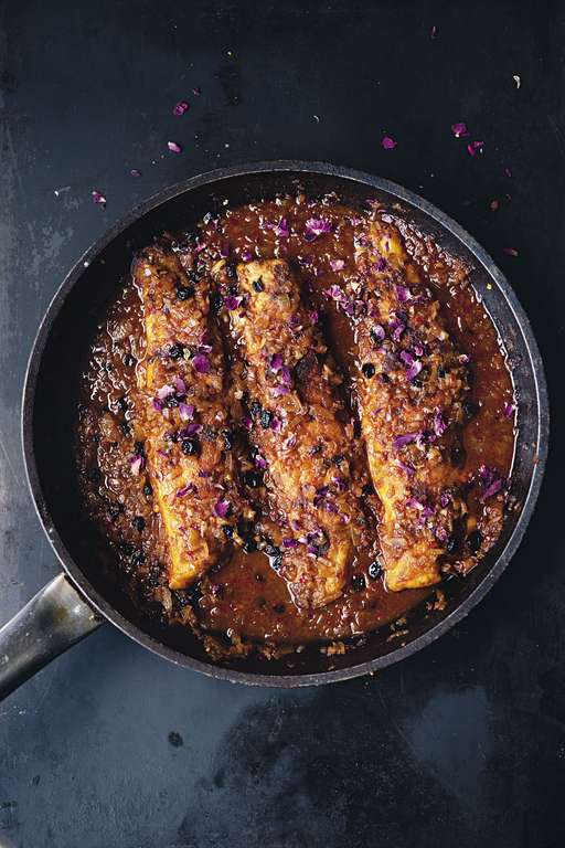 Yotam Ottolenghi's Pan-Fried Sea Bream with Harissa and Rose