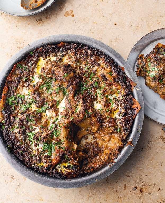 Yotam Ottolenghi's Spicy Mushroom Lasagne